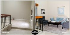 Home Staging Before & After by MHM Professional Staging, LLC | See more at ProfessionalStaging.com #livingroom