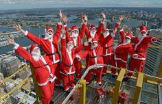 Weihnachtliche Grüße aus luftiger Höhe