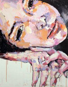 "Saatchi Art Artist thomas donaldson; Painting, ""7-24-14 head with hands"" #art"