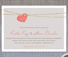 sweet heart wedding invites