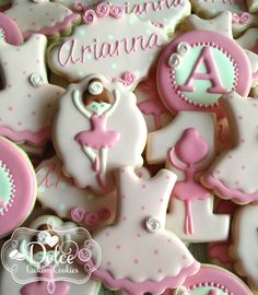 Ballet Ballerina Tutu First Birthday Cookies - 1 Dozen (12 Pcs) by Dolce Custom Cookies on Gourmly
