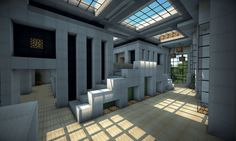 Attractive Inspiration Ideas Minecraft Modern House Interior Design Houses Channel Pins On Home