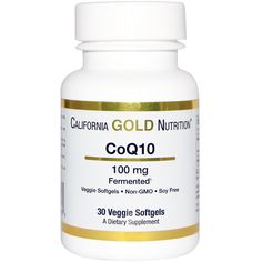 ONLY 5$ California Gold Nutrition, CoQ10, 100 mg, 30 Veggie Softgels