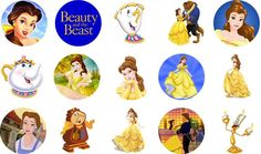 Beauty and the Beast Bottle Cap Images by BowsandBrosKreations on Etsy https://www.etsy.com/listing/279526266/beauty-and-the-beast-bottle-cap-images