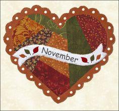 Quilted calendar blocks November