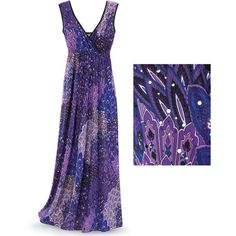 Sparkling Paisley Dress Size 1X ($120) ❤ liked on Polyvore featuring dresses, long dresses, plus size, women plus size dresses, surplice dress, paisley print dress and plus size long dresses