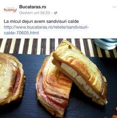 Sandwich/sandvisuri calde Yummy, yummy Yummy Yummy, French Toast, Sandwiches, Breakfast, Food, Hoods, Meals