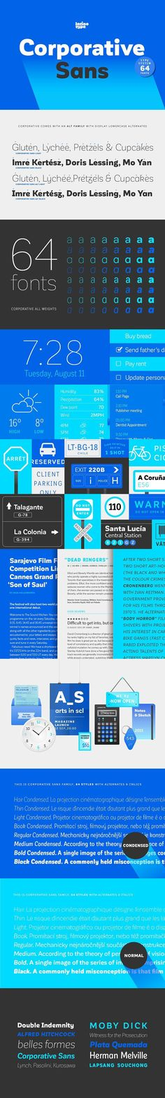 Corporative Sans. Sans Serif Fonts. $289.00