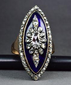 Hey, I found this really awesome Etsy listing at https://www.etsy.com/listing/183907886/georgian-royal-blue-enamel-and-diamond
