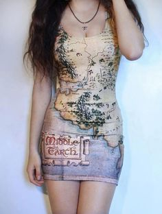 Amazing Middle Earth map dress