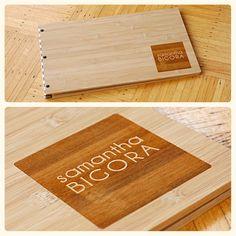 Custom Graphic Design Bamboo Screwpost Portfolio Book - 11 x 17
