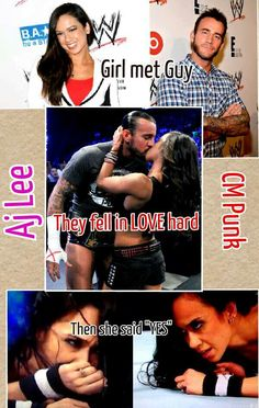 Congrates to the new Aj Lee Brooks <3 (history of Punk and Aj)