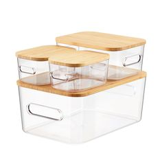 Stackable Plastic Storage Bins, Stacking Bins, Storage Bins With Lids, Plastic Bins, Kitchen Organization Pantry, Container Organization, Fridge Storage, Pantry Storage Containers, Clear Plastic Storage Containers