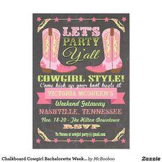 Chalkboard Cowgirl Bachelorette Weekend Getaway