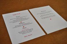 Hochzeit Menükarte - kreative Kartendesings und Drucksachen für deine Feier! #Menü #Hochzeit #Motschico #Papeterie