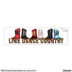 TEE Country Line Dance Bumper Sticker