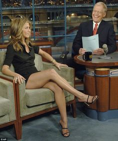 Shock: In 1998 Letterman shocked Jennifer Aniston (pictured in 2006) when he attempted to ...