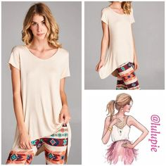 Essential Oatmeal Tunic Beautiful oatmeal tunic with tapered hi/low hem for excellent coverage. Made of soft rayon and spandex blend. Perfect to pair with leggings also available in my closet. Available in S, M, L, XL Bchic Tops Tunics