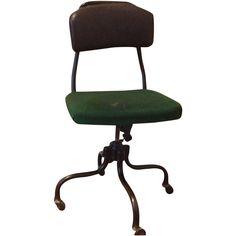 Industrial 1930u0027s Secretary Chair With Spider Legs