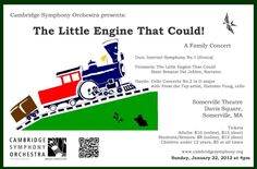 Cambridge Symphony Orchestra - The Little Engine That Could! A Family Concert - Sunday, January 22, 2012