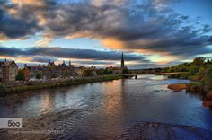 River Tay evening by AldisOzols. Please Like http://fb.me/go4photos and Follow @go4fotos Thank You. :-)