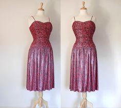 80s Dress / 90s  Dress / Glam Dress / Disco by DuncanLovesTess
