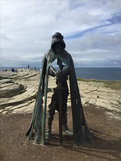 King Arthur's statue, Tintagel Castle