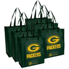 Green Bay Packers Reusable Bag 6 Pack $12.99 http://www.fansedge.com/Green-Bay-Packers-Reusable-Bag-6-Pack-_-1688151645_PD.html?social=pinterest_pfid23-03992