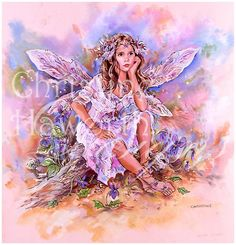 Faerie Poppets : The Scented Violet © Copyright Christine Haworth Designs
