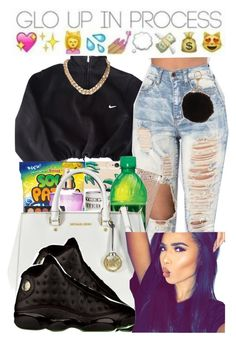 """""""glooo """" by babygirlnia14 ❤ liked on Polyvore featuring NIKE and Armitage Avenue"""