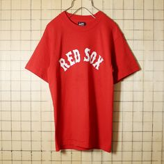 USA製 古着 レッド プリント Tシャツ 半袖 MLB RED SOX 21 レッドソックス メンズS BEST FRUIT OF THE LOOM アメリカ古着