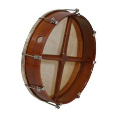 """Bodhran, 14""""x3.5"""", Ext Tune, Rswd, Cross (Package Of 3) by Roosebeck. $265.37. Double fixed crossbars. Goatskin exterior tunable, rosewood. Includes a tipper and a tuning wrench. (Package Of 3)"""