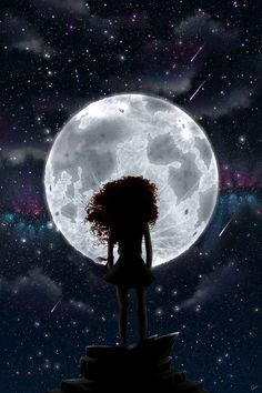 near the moon by RedNatsume on DeviantArt