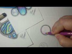 Doodle Art Letters, Easy Doodle Art, Colored Pencil Tutorial, Colored Pencil Techniques, Pencil Drawing Tutorials, Pencil Drawings, Drawing Ideas, Copic, Gem Drawing