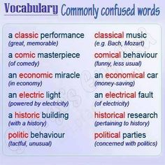 commonly confused words - C2