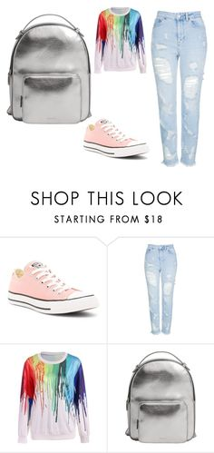 """Bez naslova #1"" by kera-2 ❤ liked on Polyvore featuring Converse, Topshop and MANGO"