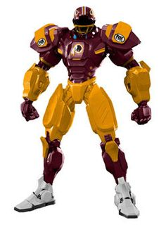 Redskins Cleatus Robot.....i would not mind having this!!!