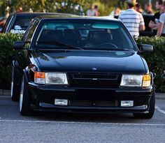 Wow! I absolutely love this shot and this angle! This Flat nose 9000 looks so aggressive with the wider/bigger wheels and the full black front. #saab #saabturbo #saab9000 #c9000 #aero #spg #turbo #garrett #mitsubishi #trionic #intercooler #fmic #bbs #bbsrs #racetrack #youngtimer #sweden #trollhättan #vintage Owner: garaget.org/saab_Johan