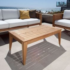 Craftsman Teak Outdoor Sofa Table - Westminster Teak Outdoor Furniture