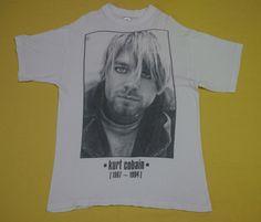vintage 90s KURT COBAIN nirvana THE END OF MUSIC grunge sub pop t-shirt #GraphicTee