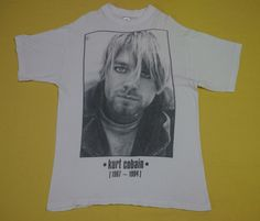 vintage 90s KURT COBAIN nirvana THE END OF MUSIC grunge sub pop t-shirt #GraphicTee