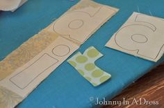Applique Tutorial, How to print on Heat n Bond, How to Applique perfect letters