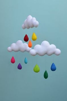 Arc en ciel nuage mobile.