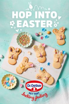 Hands up, who needs an activity for the little ones? Turn a gingerbread man cutter upside-down to make these easy Bunny Hug Biscuits! Easter Cookies, Easter Treats, No Cook Meals, Kids Meals, Baking Storage, Popsicle Stick Christmas Crafts, Biscuits, Mickey Mouse Cake, Baking With Kids