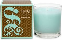 Moroccan Tes candle from Sprig, currently a favorite scent.