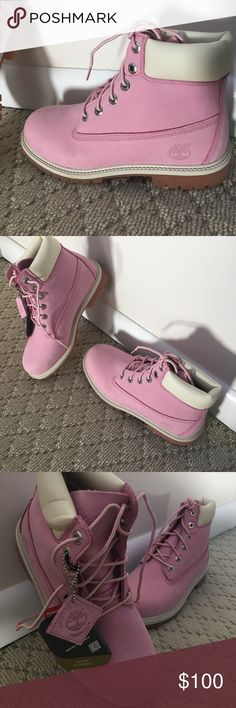 NWT Timberland Pink Construction Boots! These boots have never been worn and still have the tags attached! They are a baby pink color in women's size 6.5. They run a little large and they fit me (I'm usually a 7). Please refer to the company website for all other sizing questions. They are an excellent fall or winter boot! No trades please but all SERIOUS offers considered. Please use the offer button to make an offer rather than commenting! 💕 Timberland Shoes Winter & Rain Boots