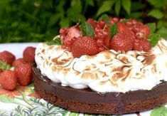 Chokladtryffeltårta med italiensk maräng   Hannas bageri