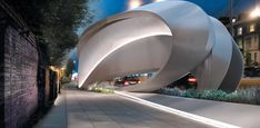 Zaha Hadid attempts to rethink roadside advertising with billboard design.