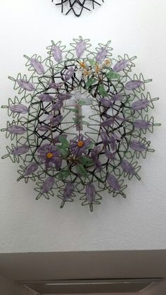 From the collection of Karen Hendrix. Bought on ebay from Switzerland. French Antiques, Vintage Antiques, Victorian Hairstyles, French Beaded Flowers, Bead Art, Funeral, Decorative Bowls, Weaving, Paper Crafts