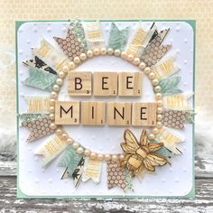 Bee Mine washi tape wreath card Washi tape wreath handmade Valentines card idea made using Trimcraft Bee Happy range Valentine Day Cards, Valentines Diy, Handmade Valentines Cards, Simple Handmade Cards, Washi Tape Cards, Bee Cards, Boyfriend Crafts, Tape Crafts, Diy Crafts